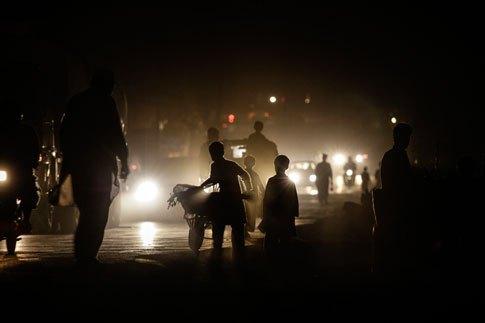 APTOPIX Pakistan Lights Out