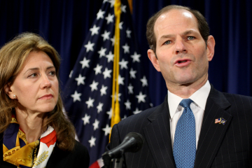 GOvernor Eliot Spitzer resigns at his Midtown office with hi