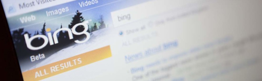 Illustrative image of the new Microsoft 'bing' search engine website. (Photo by: Newscast/UIG via Getty Images)