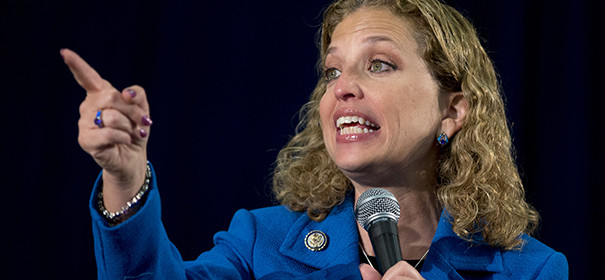 FILE - This Oct. 11, 2012 file photo shows Democratic National Committee Chair, Rep. Debbie Wasserman Schultz, D- Fla., speaking at the University of Miami in Coral Gables, Fla. President Barack Obama wants Wasserman Schultz to stay on as his party's chairwoman. Wasserman Schultz has overseen the Democratic National Committee since early 2011. Party officials credit her in part with helping the president carry her home state of Florida, as well as leading the party to an expanded majority in the Senate and more seats in the House.  (AP Photo/Carolyn Kaster, File)
